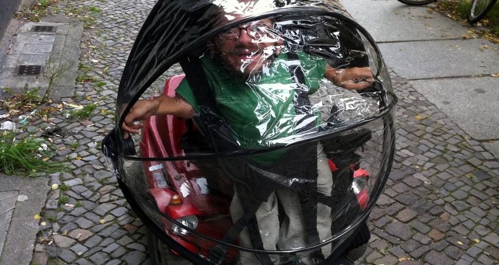 Regenschutz für den Rollstuhl