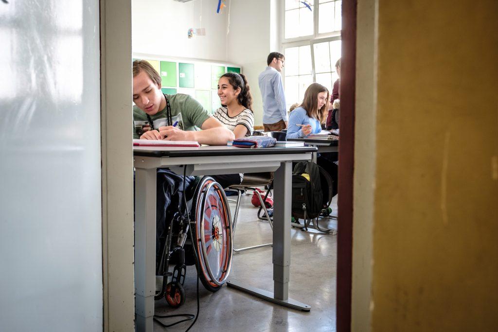 Aufnahmen aus der inklusiven Sophie-Scholl Schule in Berlin