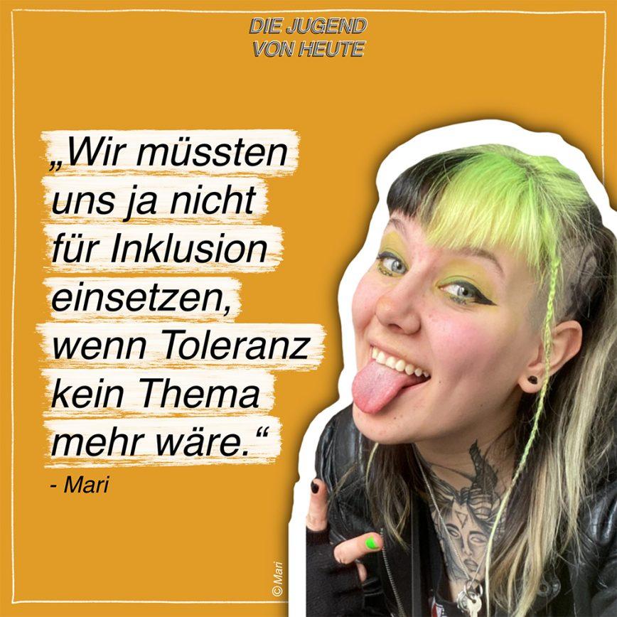 """Podcast: """"Die Jugend von heute"""" – Folge 1: Mit Mari"""